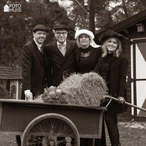 Boerenbruidspaar Thomas & Gabriëlle - Getuuge Pieter & Peggy